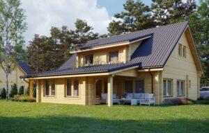 Showcase: Glulam log house Riga