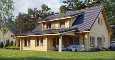 Casa de madera laminada Riga