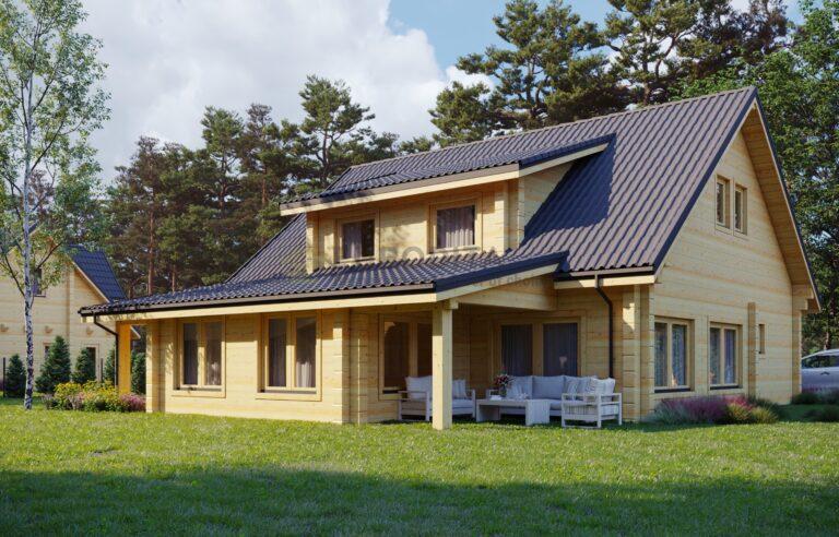 Leimholz-Blockhaus Riga