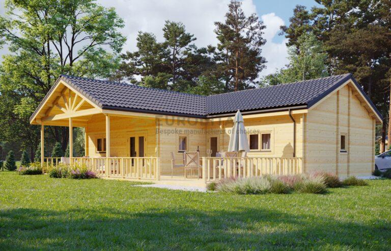 Glulam Log House Sylvie