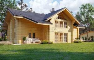 klijuotos medienos karkasiniai namai