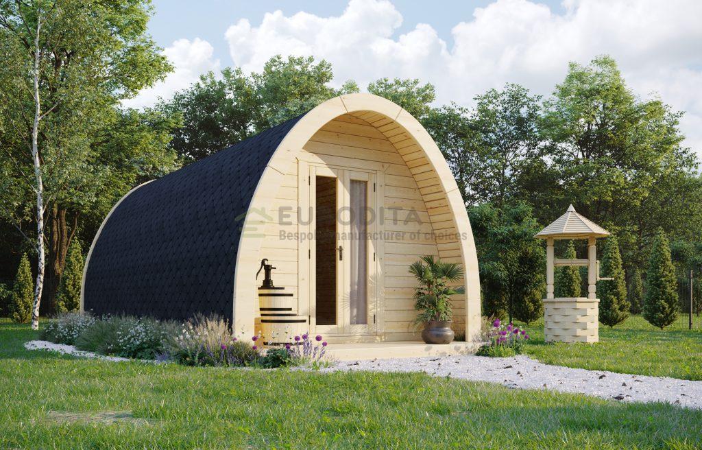Insulated Camping Pod 3.25×6.6m – Glen 1