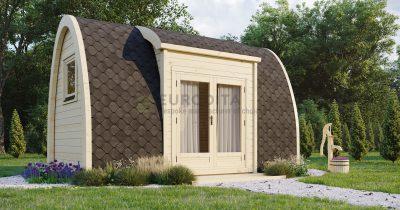 Entrada lateral aislada de Camping Pod 2.4×4.8m-Emprise 3