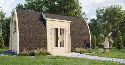 Pod aislado de acampada 2,4×6,0m de planta abierta-Venture 2