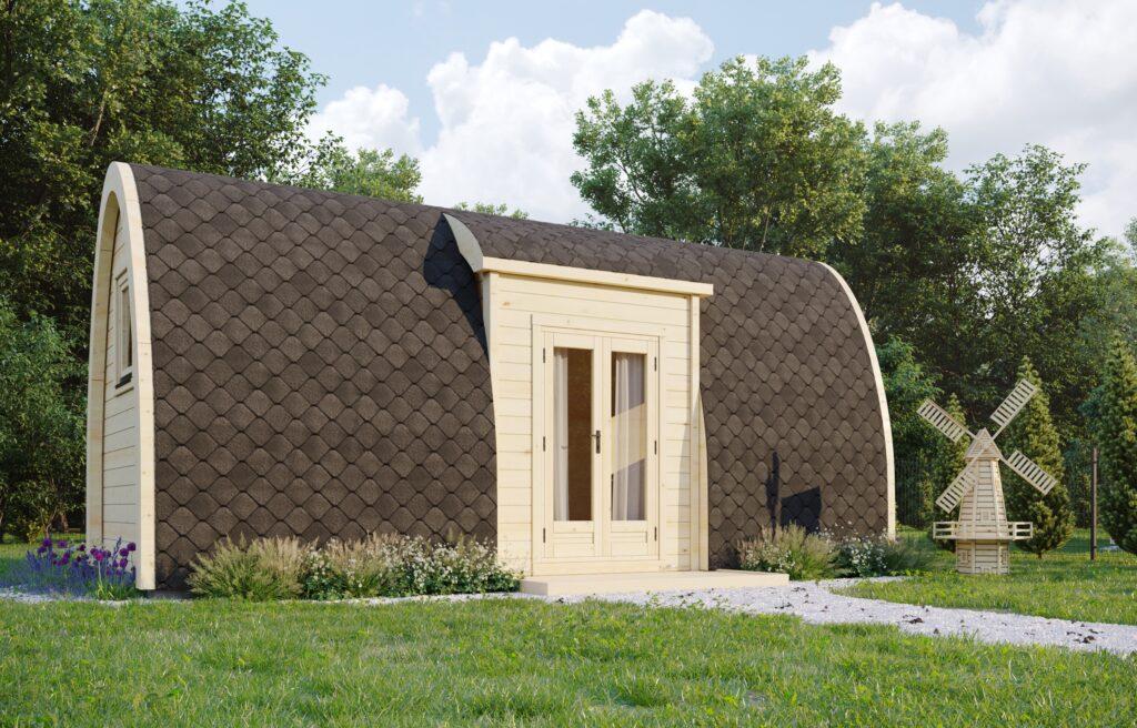 Pod de camping isolé avec entrée latérale 2,4×6,6m-Emprise 1