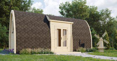 Entrada lateral aislada del Camping Pod 2,4×6,6m-Empresa 1