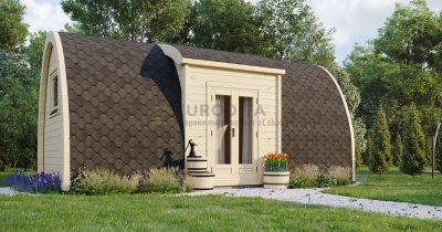 Pod aislado de camping de 2,4×6,6 m abierto-Venture 1