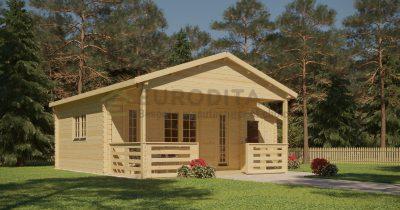 """Log Cabin Craig"" 5,8×4,3 m, 44 mm"