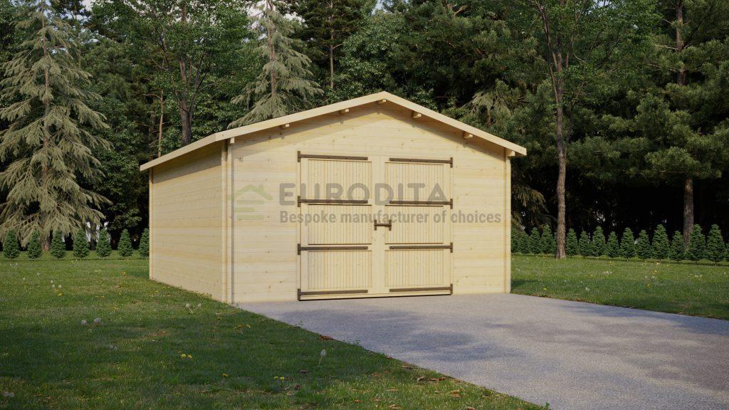 Бревенчатый гараж Рози