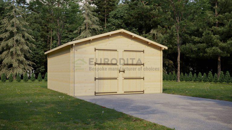Rąstinis garažas Rosie