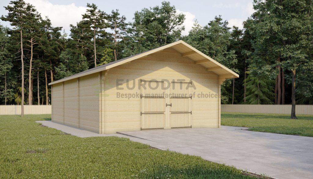 Rąstinis garažas Frankie