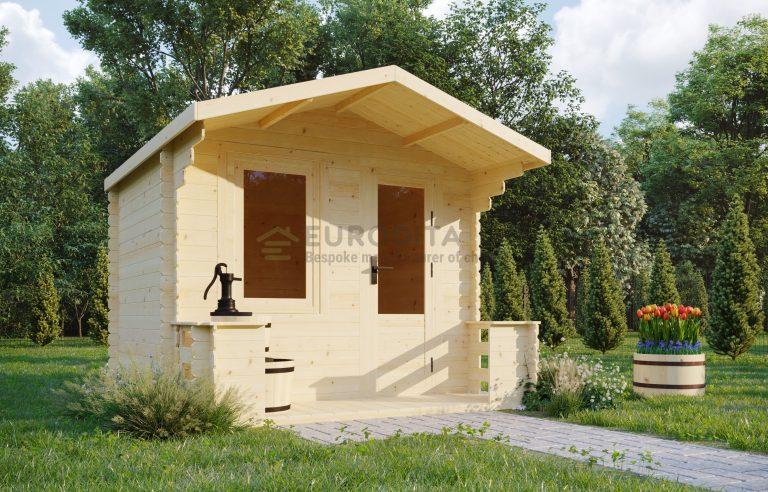 Log shed 2.5x2.8m