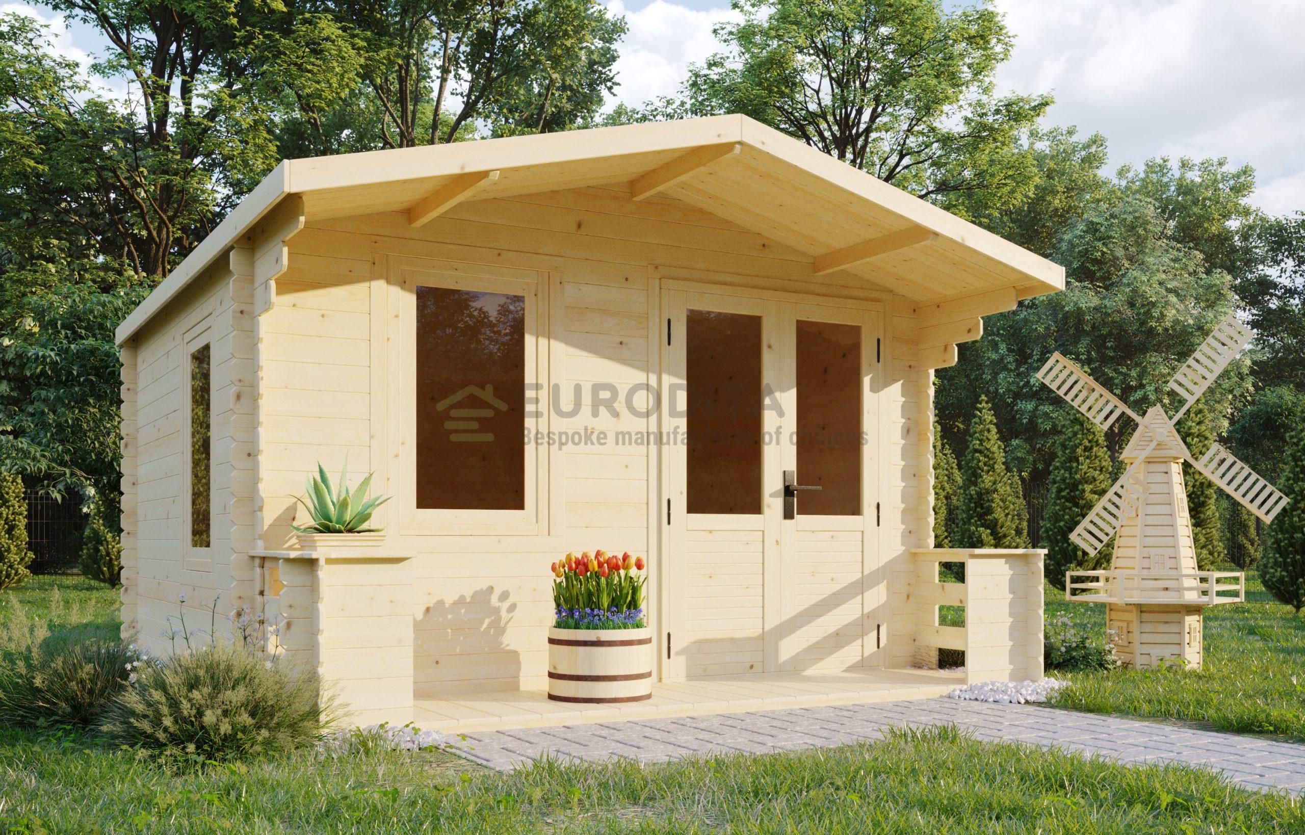 Log shed 3.3×3.78m