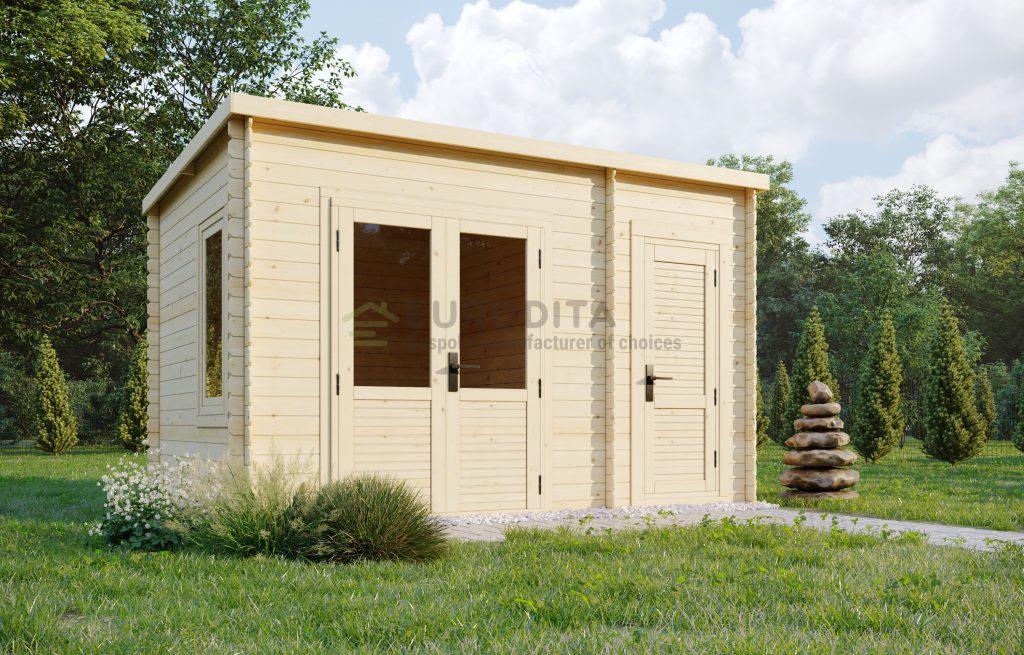 Log shed 3.5×2.4m