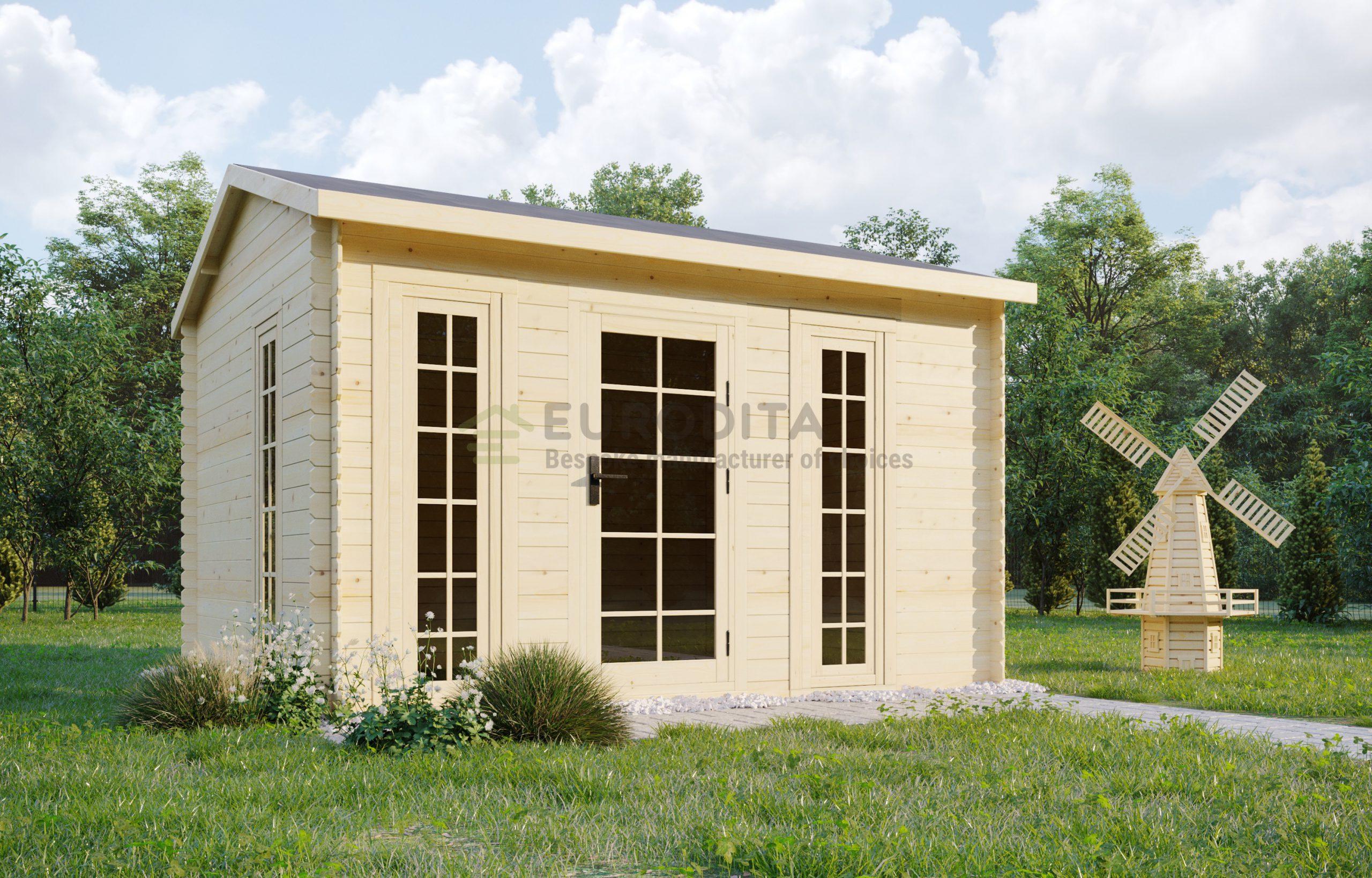 Log shed 3.5×3.0m