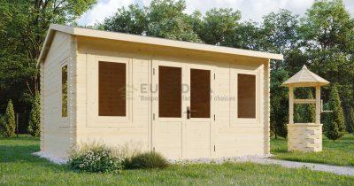 Log shed 4.0×3.0m