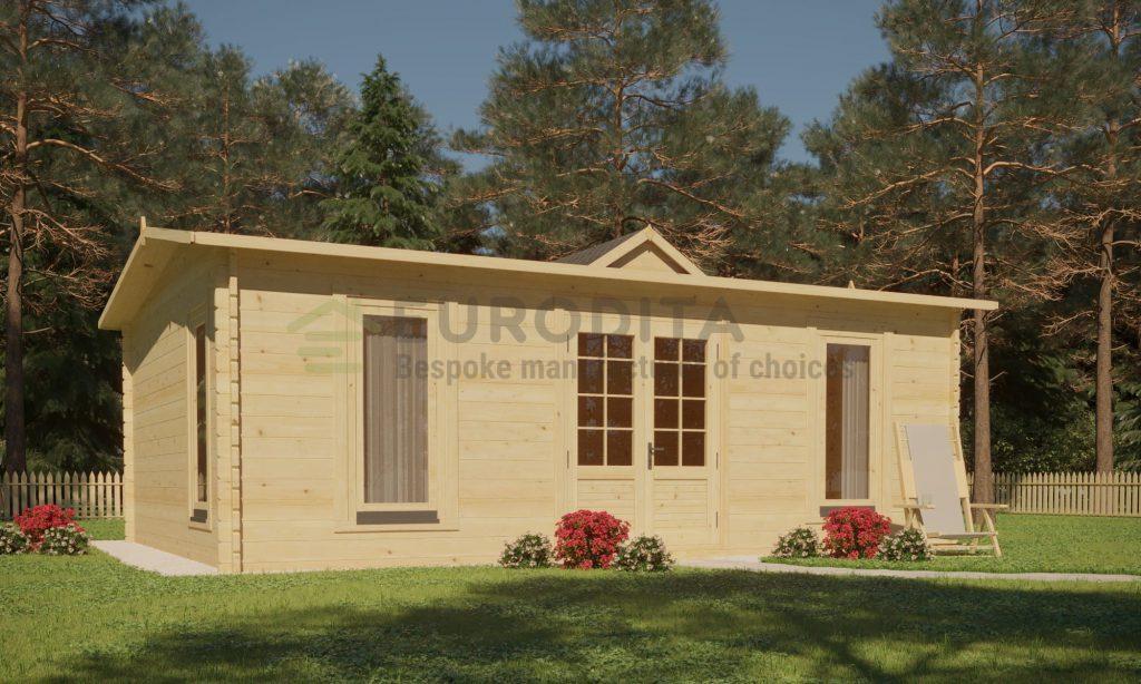 Cabaña de madera Richard 5,5x4m, 44mm