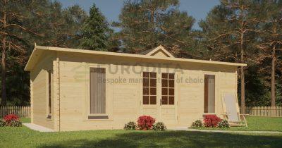 """Log Cabin Richard"" 5,5x4 m, 44 mm"
