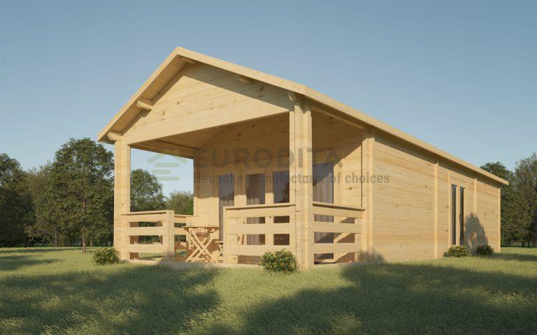 Сделанный на заказ бревенчатый домик Валд