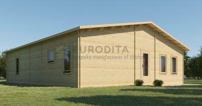 Pagal užsakymą pagamintas rąstinis namelis Estija