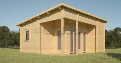 Pagal užsakymą pagamintas rąstinis namelis Jardin