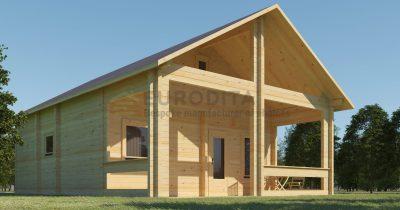 Pagal užsakymą pagamintas rąstinis namelis Boceto