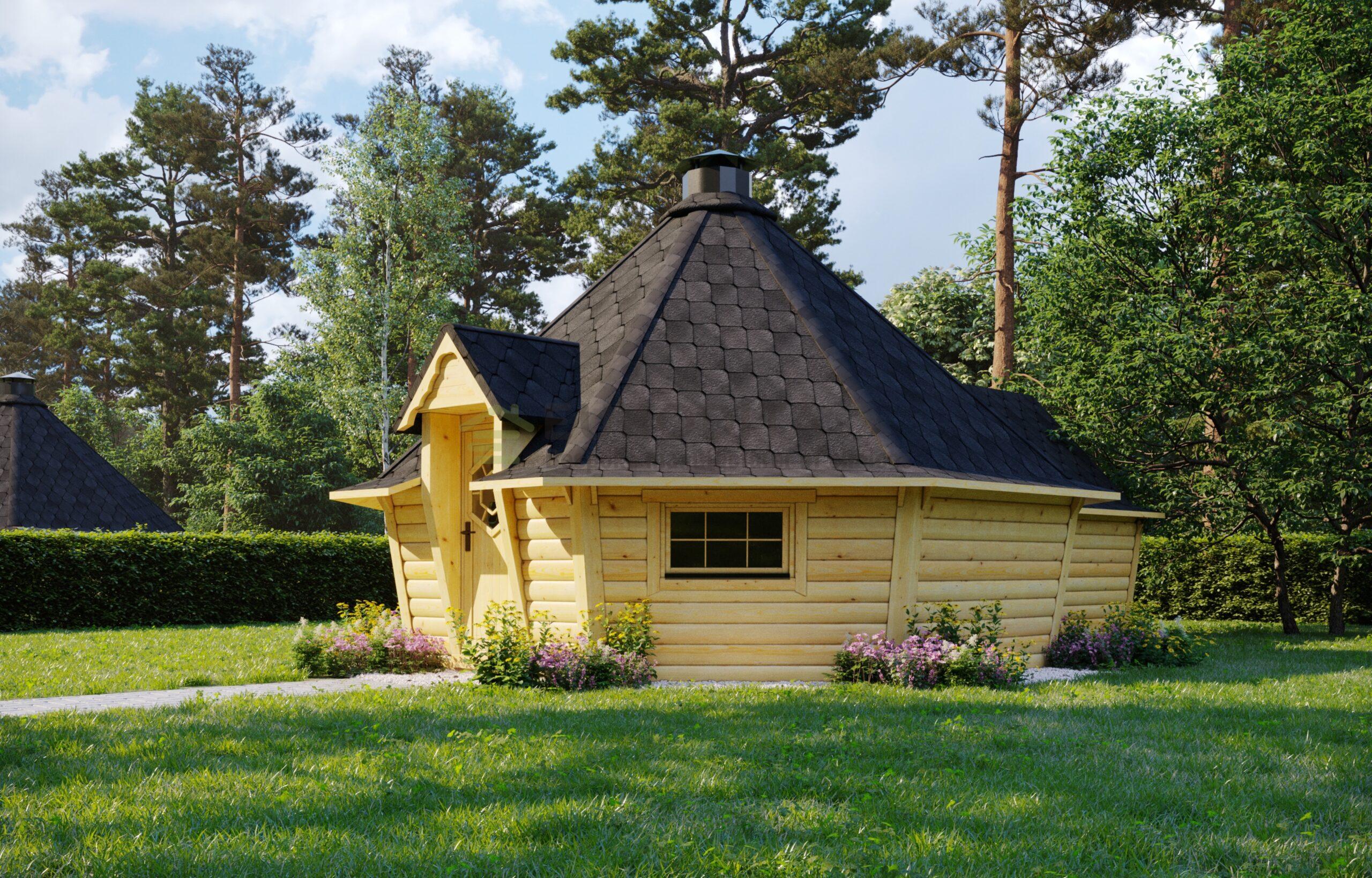 Modern BBQ Hut 16.5 m2 with 2.5 m Extension