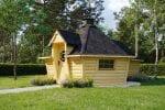 Modern BBQ Hut 9,2 m² with 2,0 m Extension