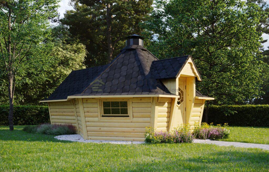 BBQ Hut 9.2m2 + Sauna extension – Patron 2