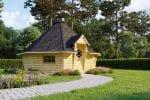 Modern BBQ Hut Sauna Cabin 16,5 m²