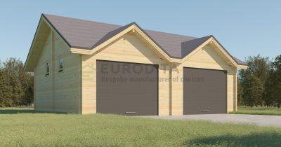 Modern Double Log garage