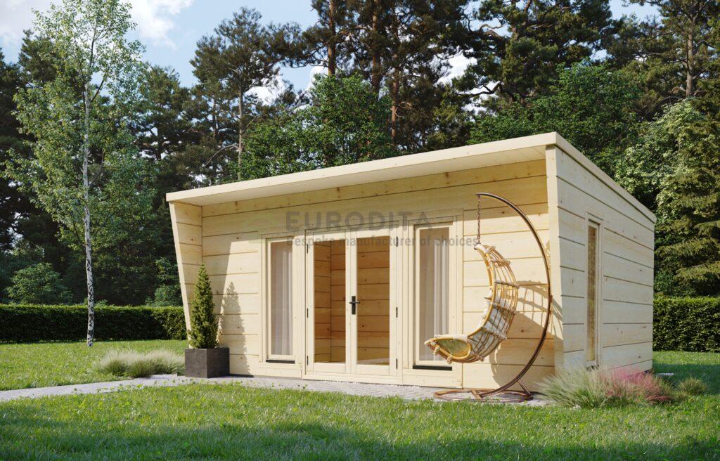 Le sursis d'une chambre de jardin moderne