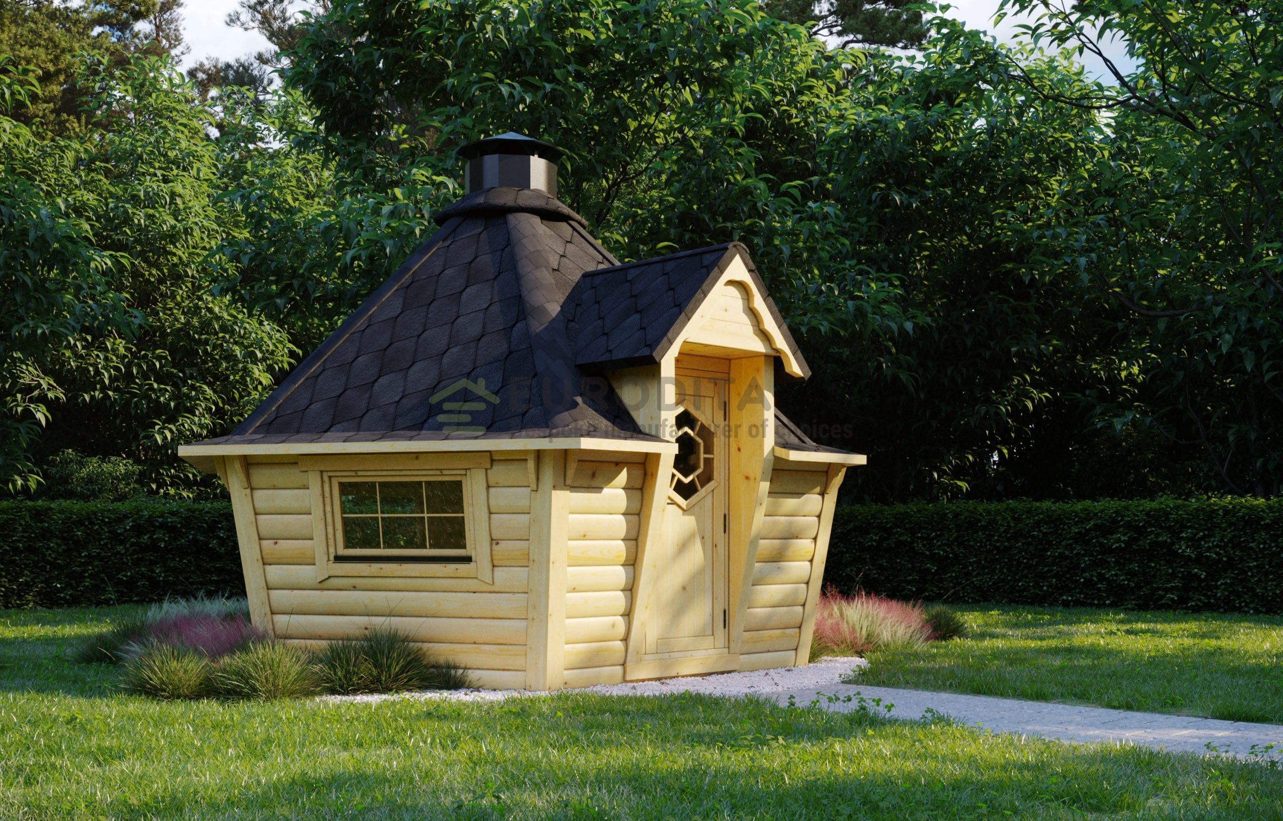 Modern Style BBQ Hut 7m2