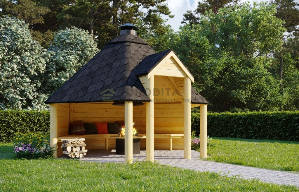 Open BBQ Hut Air – 9.2m2