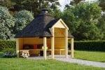 Open BBQ Hut 9.2m
