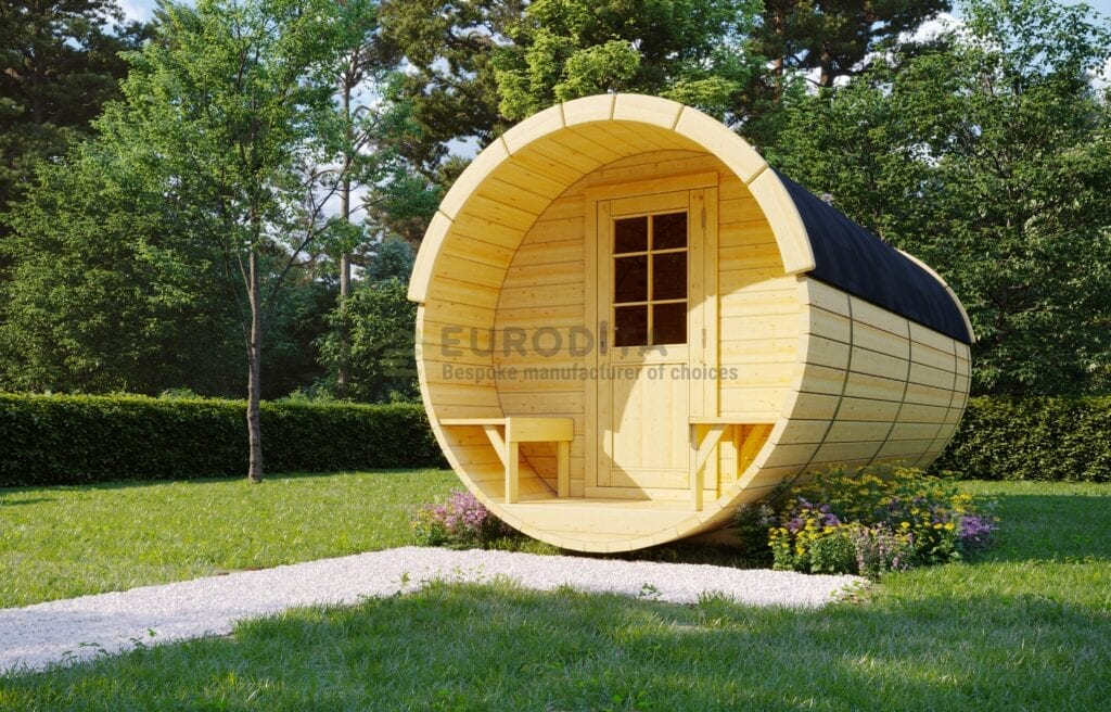 Timber Sauna Barrel 6.0m – Skye