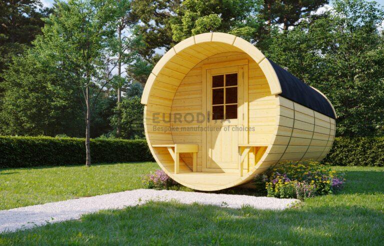 Timber Sauna Barrel 6.0m - Skye
