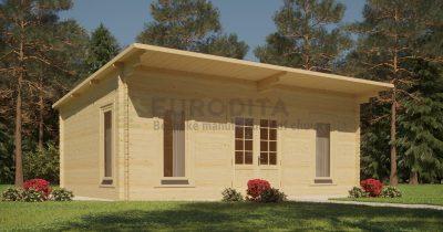 """Log Cabin Kelly"" 3,6×5,4 m, 34 mm"