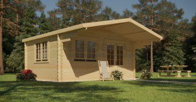 Standard Log Cabin 6x6m – Gertrude 6