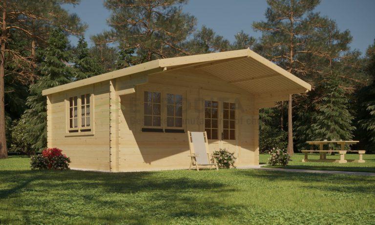Standard Log Cabin 6x6m - Gertrude 6