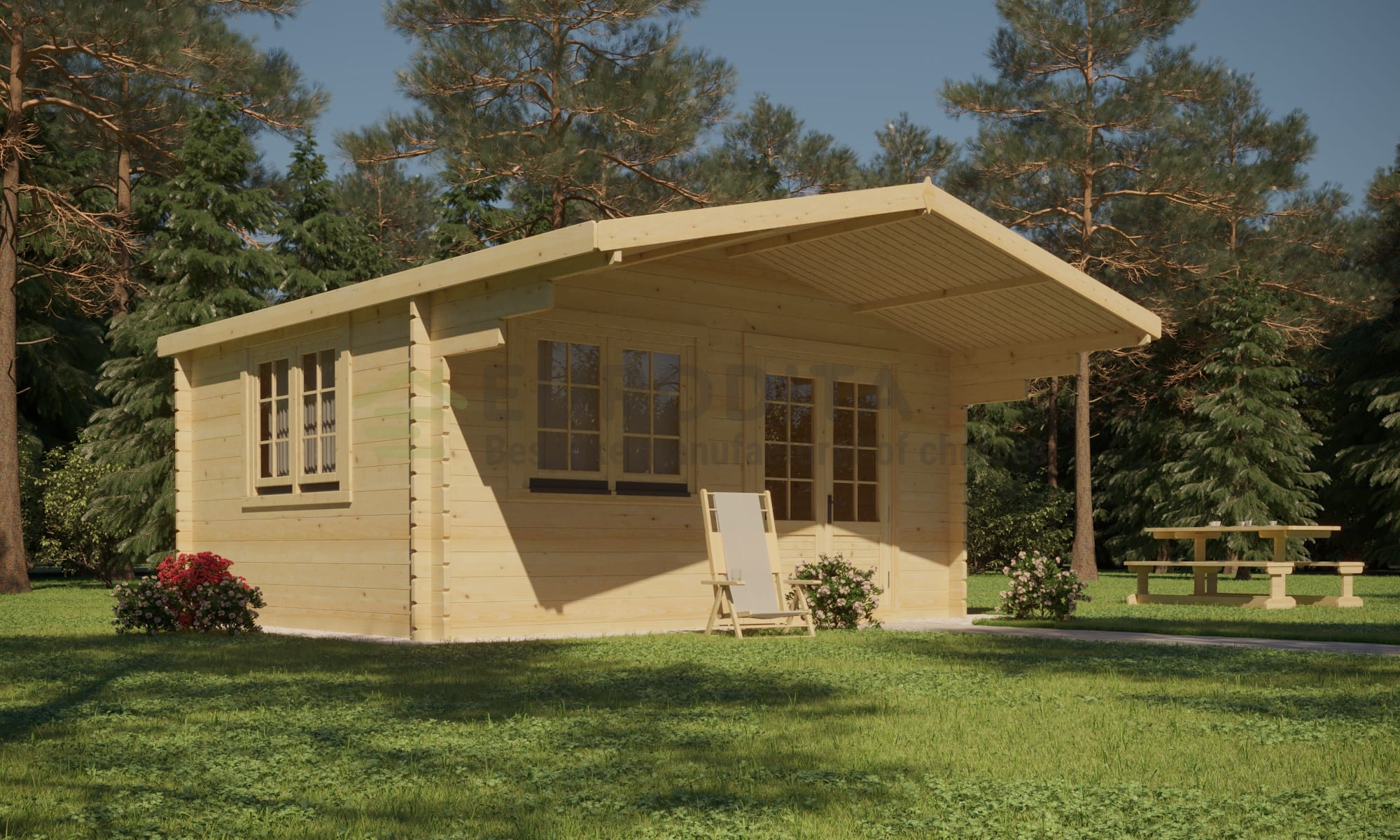 Standard Log Cabin Euro [6x6m]