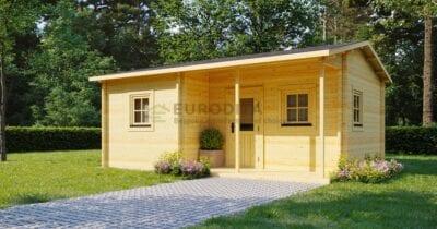 """Pagal užsakymą pagamintas rąstinis namelis """"Euro"""" 6,16×4,7 m - """"Evelyn"""