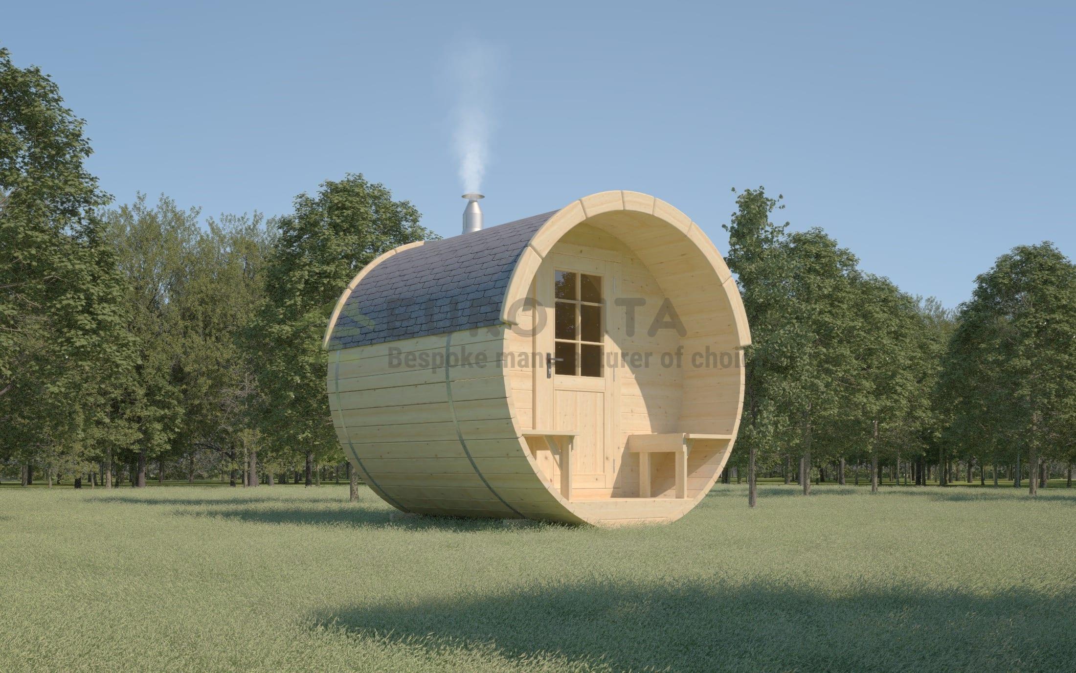 Timber Sauna Barrel 2.4m