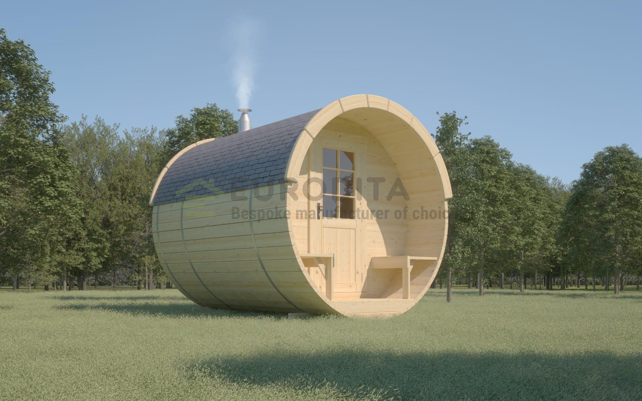 Timber Sauna Barrel 3.0m