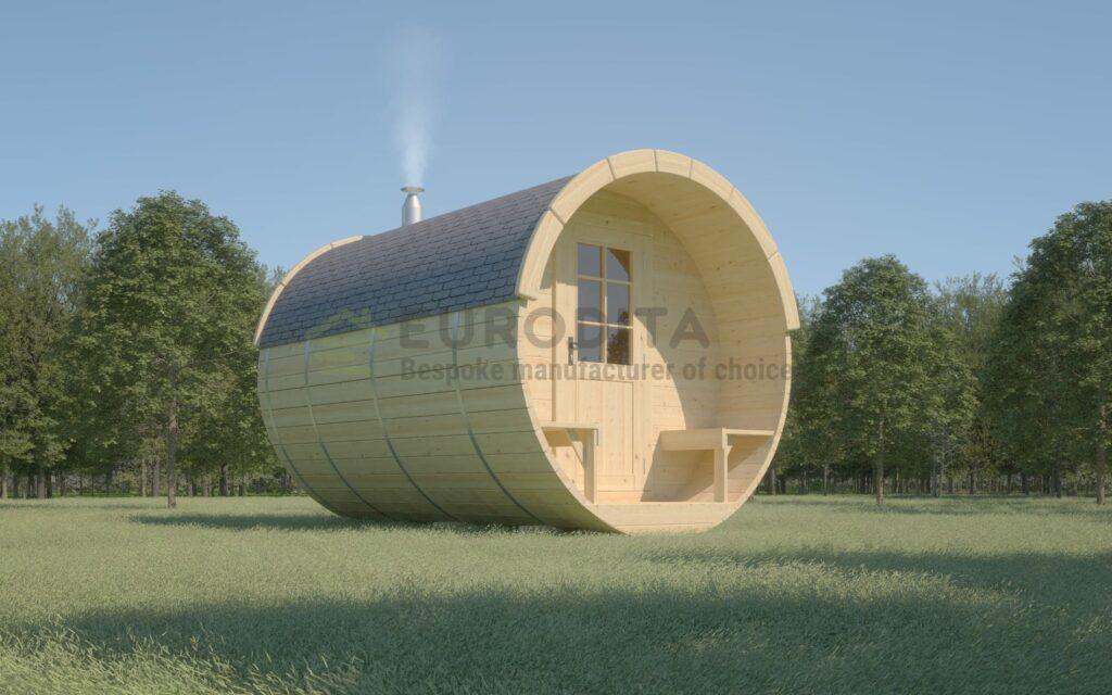 Timber Sauna Barrel 3.5m