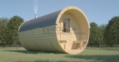 Timber Sauna Barrel 4.5m