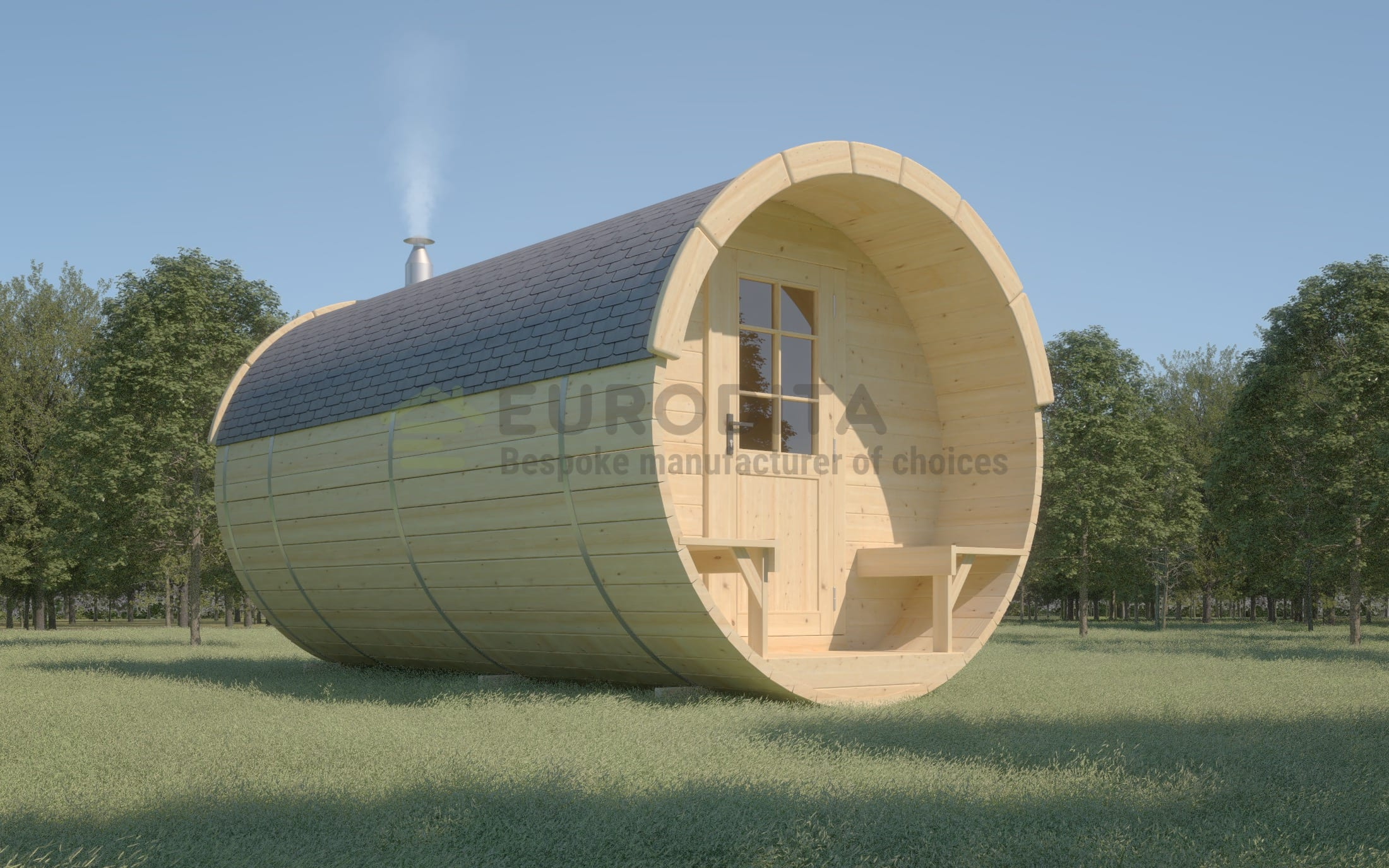 Timber Sauna Barrel 4.5m