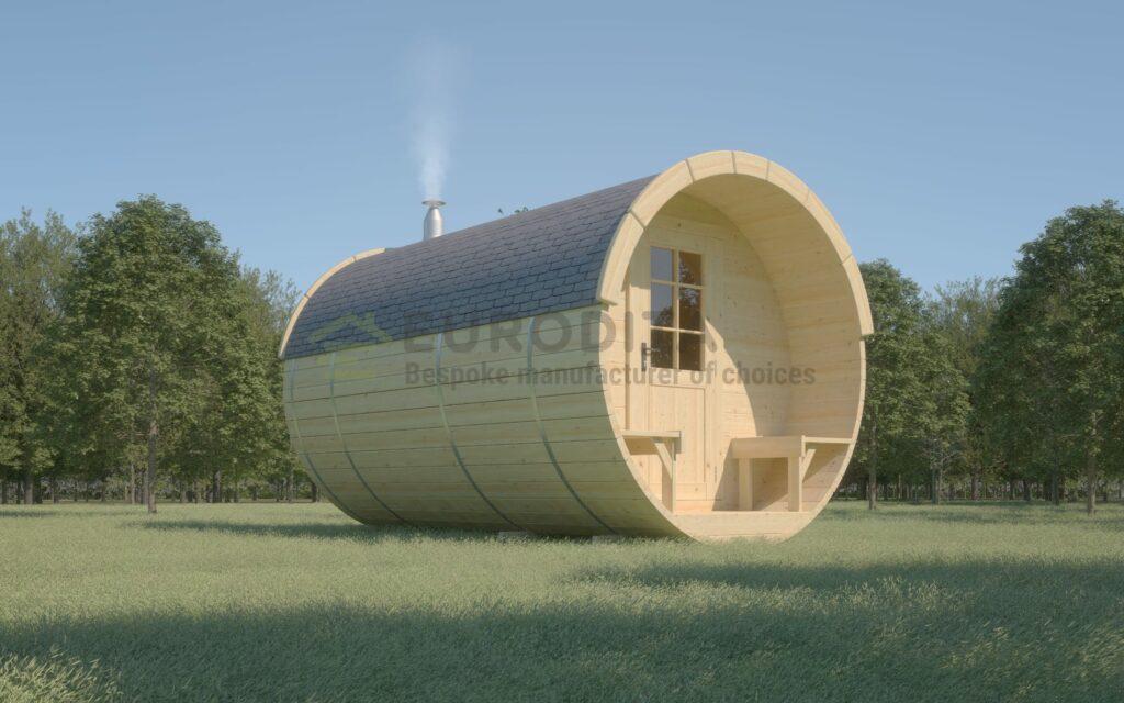 Деревянная сауна Бочка 4,0 м - Гидромассажная ванна 3