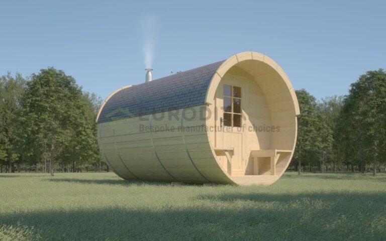 Timber Sauna Barrel 4.0m