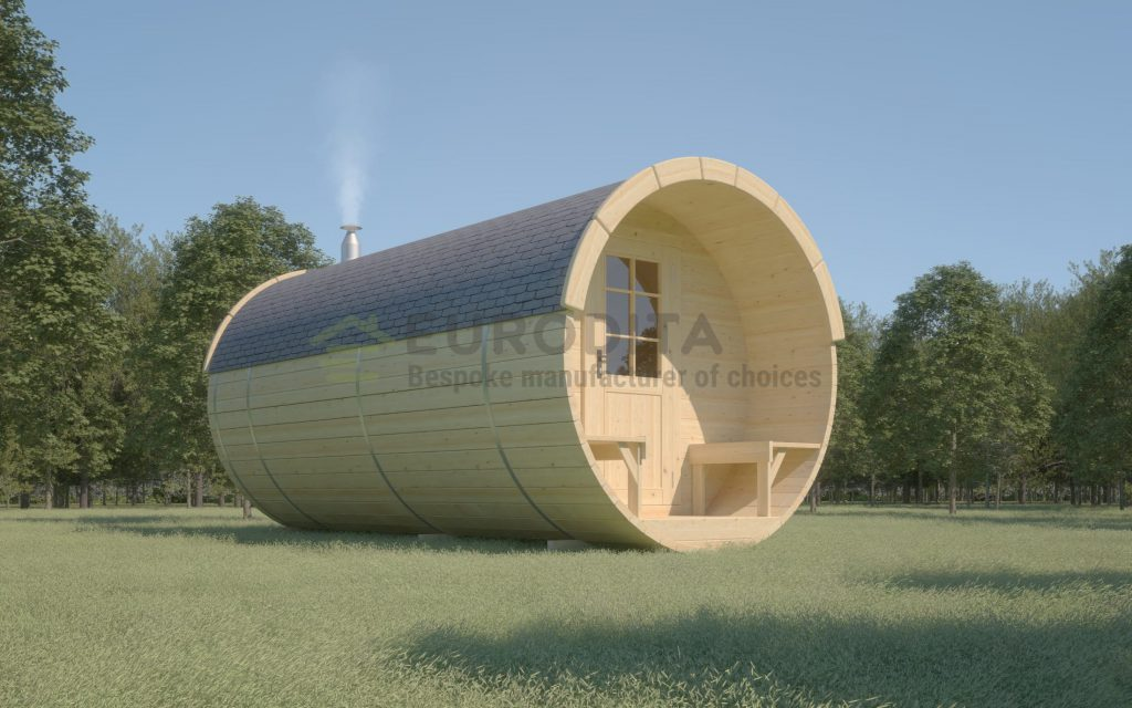 Holz-Sauna-Fass 4,8m - Whirlpool 1